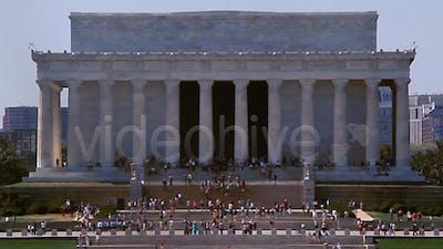Medium Shot Of the Lincoln Memorial Full HD