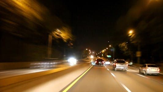 Thumbnail for NYC nigth henry hudson pkwy drive full HD