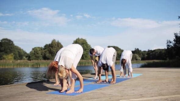 Thumbnail for Group Of People Making Yoga Exercises Outdoors 65