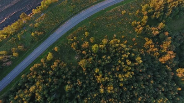 Thumbnail for Aerial View To Cliff, Sea And Road In Estonia 19