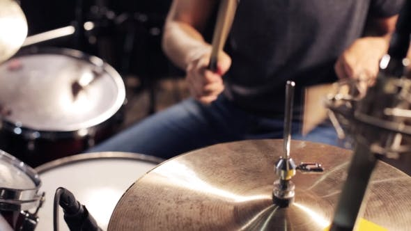 Thumbnail for Male Musician Playing Drums And Cymbals At Studio 4