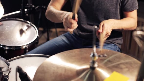 Thumbnail for Male Musician Playing Drums And Cymbals At Studio 6