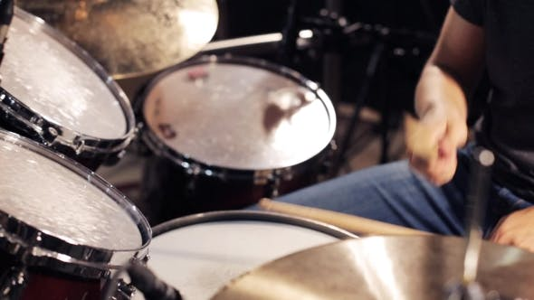 Thumbnail for Male Musician Playing Drums And Cymbals At Studio 11