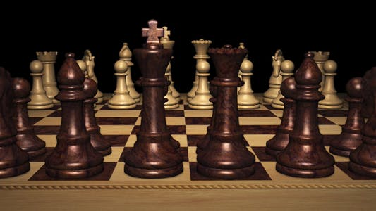 Thumbnail for Chess Board With Front Black Pieces