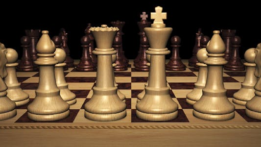 Thumbnail for Chess Board With White Black Pieces