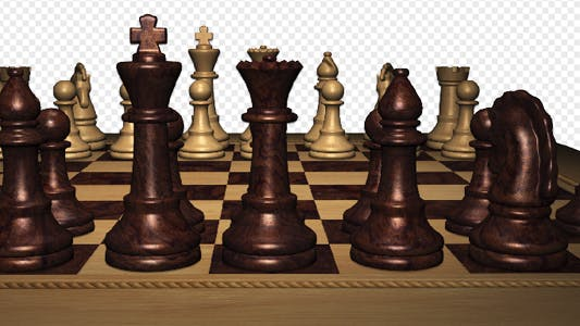 Thumbnail for Chess Board Panorama - Front Black Pieces - 4K