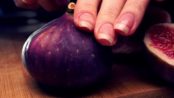 Thumbnail for Woman Cutting Ripe Fig   Shot