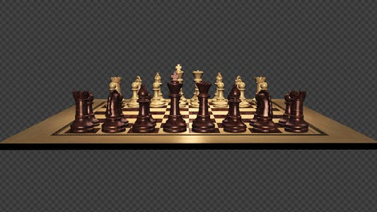 Thumbnail for Spinning Chess Board With Wooden Pieces