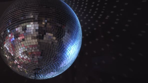 Thumbnail for Isolated Disco Ball on the Black Background