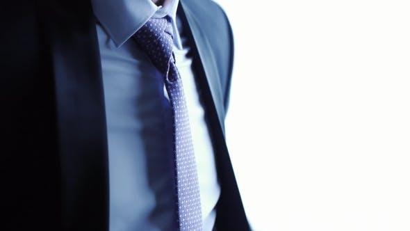 Male Groom Wears a Necktie Accessory Jacket