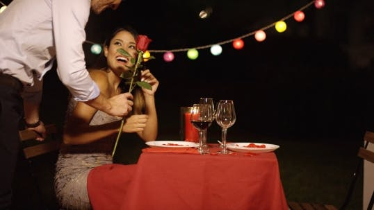 Thumbnail for Man Surprises His Beautiful Date With Single Rose