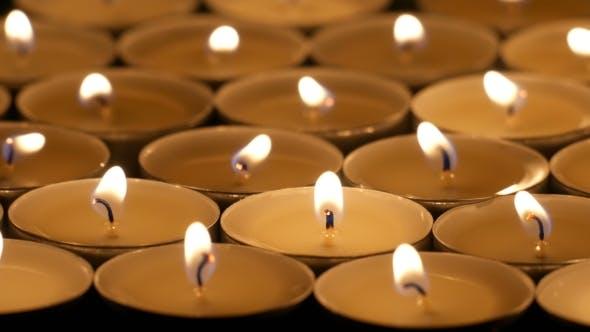 Thumbnail for Tea Candles Burning At Night
