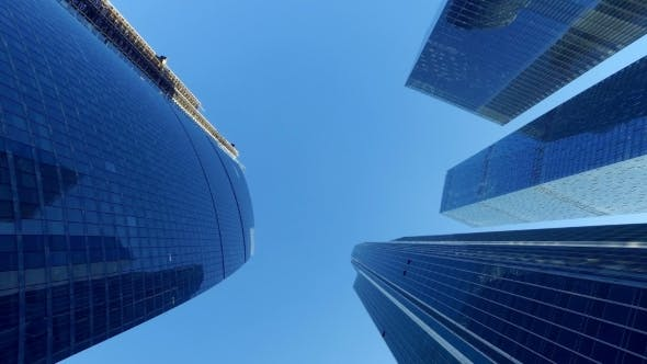 Thumbnail for Tops Of Skyscrapers In The Business And Financial Center