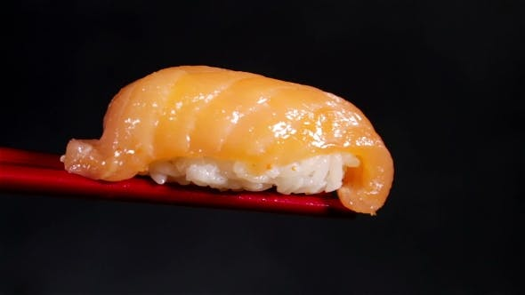 Thumbnail for Fresh Japanese Sashimi With Salmon