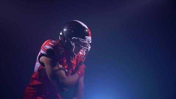 Thumbnail for American Football Player Catching a Ball, Run Away