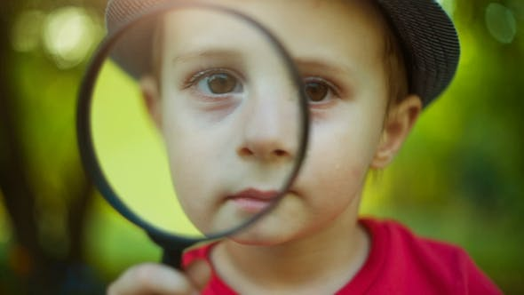 Thumbnail for Boy Looking Through a Magnifier
