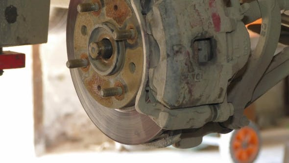 Thumbnail for Dismantling Of Brake Disk At Auto Repair
