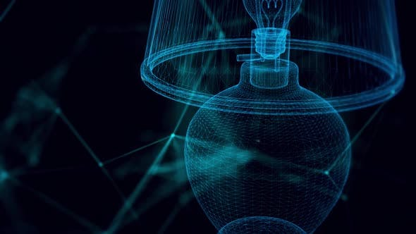 Table Lamp Hologram Close Up Hd