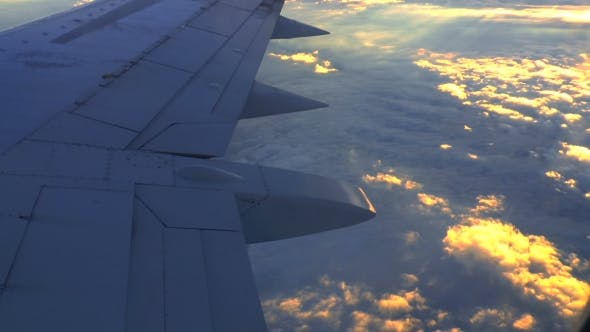 Thumbnail for Sunset From The Plane Window