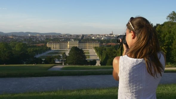 Thumbnail for Woman Photographing European Historical Buildings