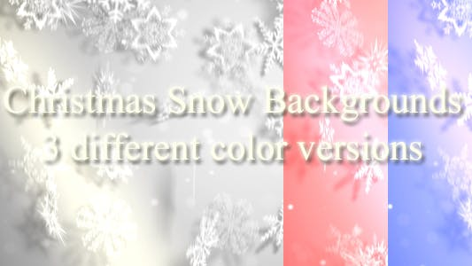 Cover Image for Christmas Snow Backgrounds 3 Different Colors Versions