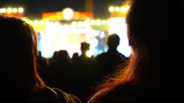 Night Show.  Bokeh Background Shot
