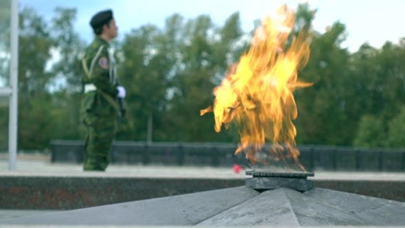 Thumbnail for Eternal Flame Memorial And Armed Guard