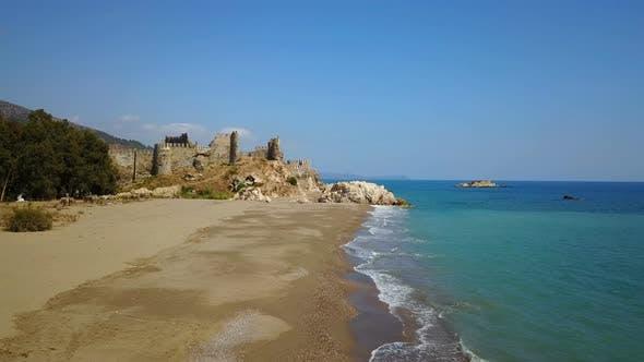 Thumbnail for Crusades Mamure Castle, Mediterranean Sea, South Coast Mersin, Turkey