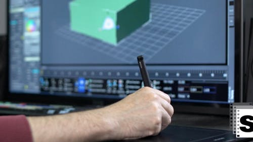 Designer Using Stylus Pen
