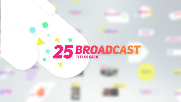 Thumbnail for 25 Broadcast Titles Pack
