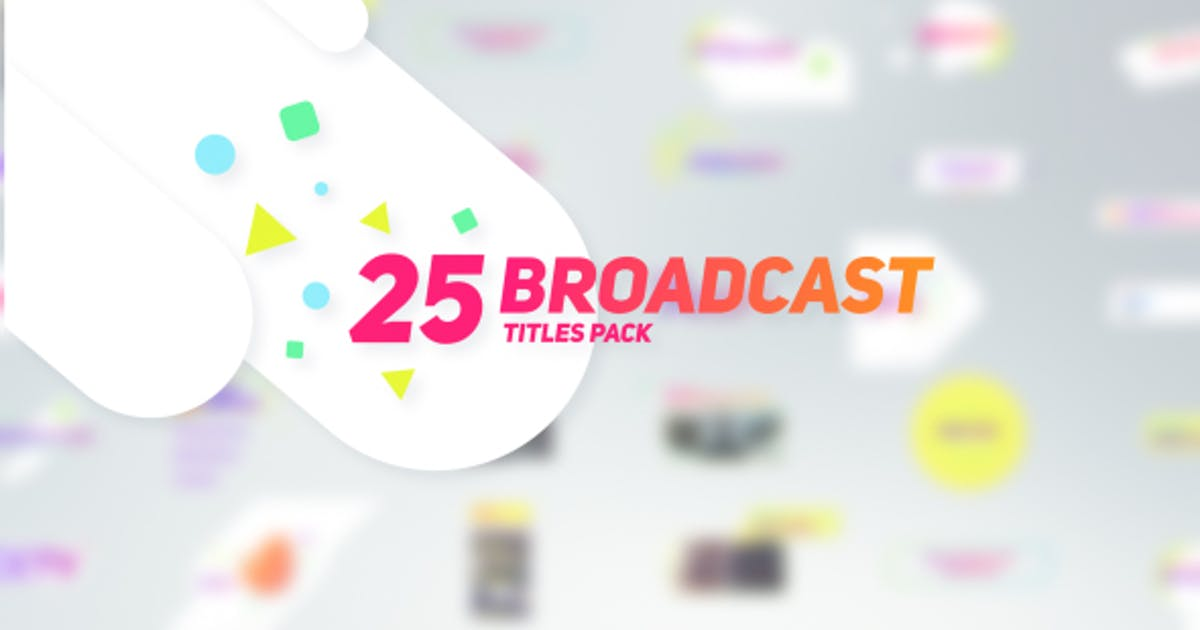 Download 25 Broadcast Titles Pack by Nullifier
