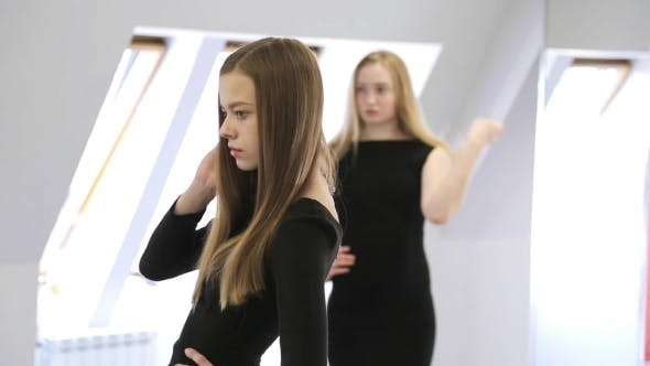 Thumbnail for Young Female Posing In Model School.