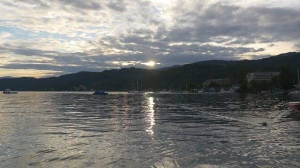 Magic Tranquility Of Sunset Lake