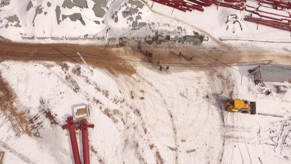 Thumbnail for Aerial Top View Of Construction Area
