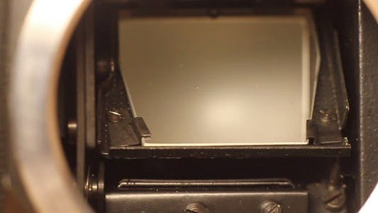 SLR Film Camera Mirror Shooting