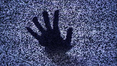 Ghost Hand in Tv Noise