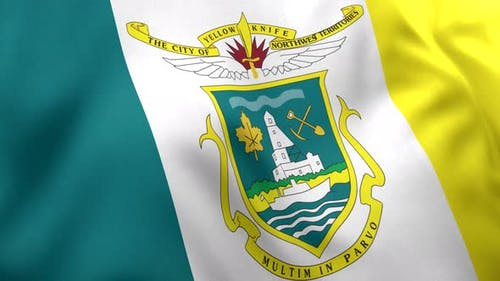 Yellowknife City Flag (Canada) - 4K