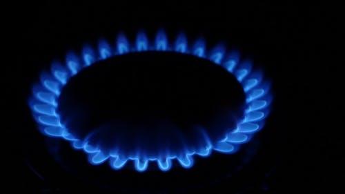 Gasbrenner in der Küche Ofen