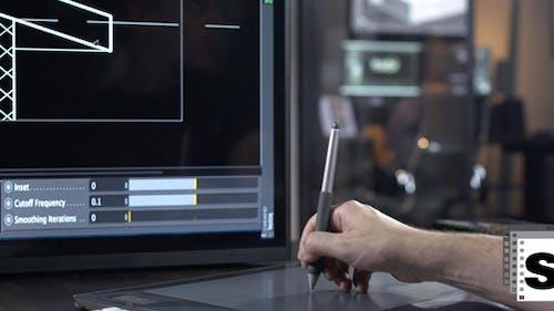 Designer With Digital Tablet