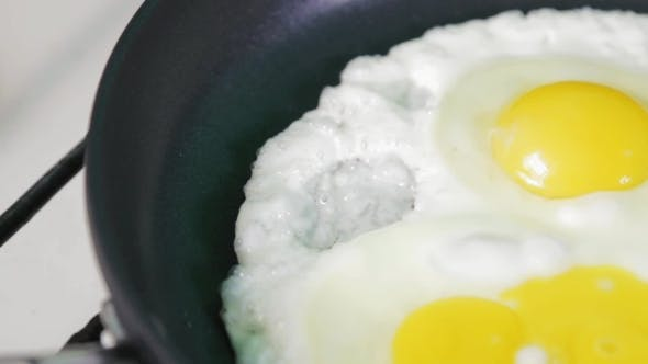 Thumbnail for Eggs Of 3 Eggs Cooked In a Frying Pan