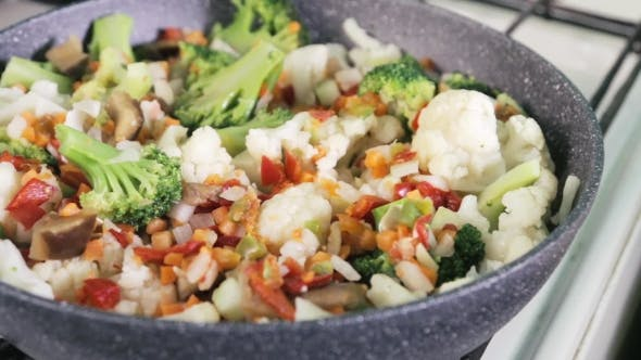 Thumbnail for Cooking Mixture Of Vegetables Prepared On a Frying Pan
