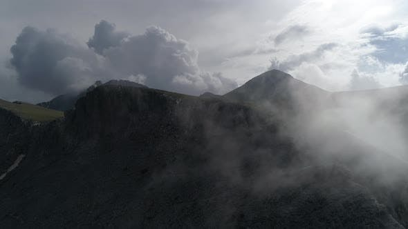 Olympus Mountain and the Summit of Mitikas with clouds