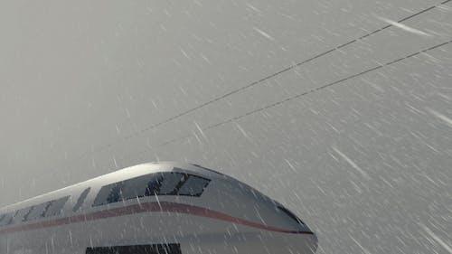 High Speed ICE Train - Rainy Day