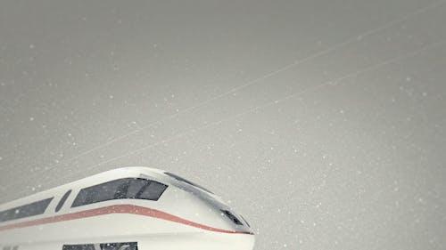 High Speed ICE Train - Snowy Day