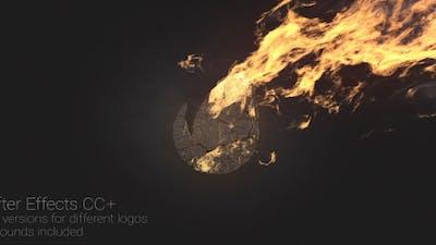 Logo at Fire