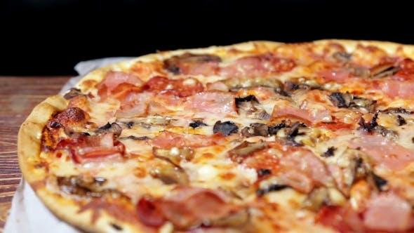 Thumbnail for Freshly Baked Meat Pizza