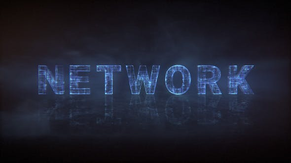Thumbnail for Network Type - Animated Typeface
