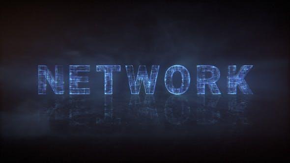 Network Type - Animated Typeface