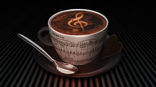 Coffee Cup With Treble Clef