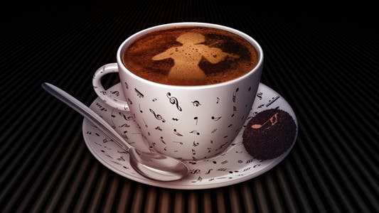 Thumbnail for Coffee Cup With Violin Player